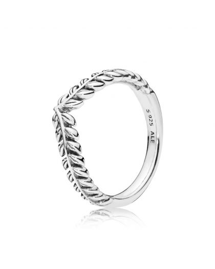 SEEDS WISHBONE SILVER RING