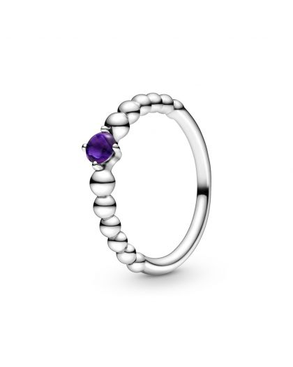 STERLING SILVER RING WITH TREATED PURPLE TOPAZ