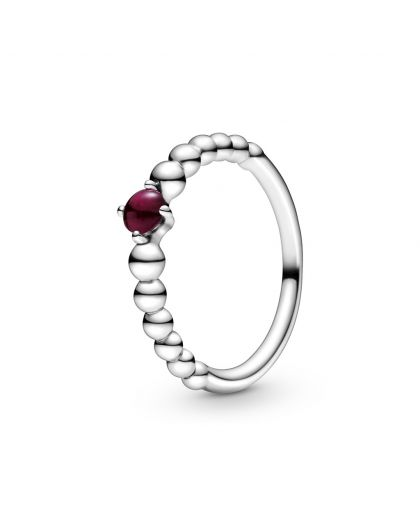 STERLING SILVER RING WITH TREATED DARK RED TOPAZ