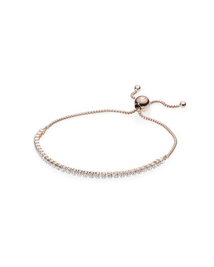PANDORA ROSE BRACELET WITH CLEAR CUBIC ZIRCONIA