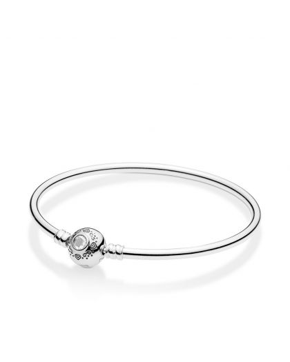 DISNEY JASMINE SILVER BANGLE WITH CLEAR CUBIC ZIRCONIA