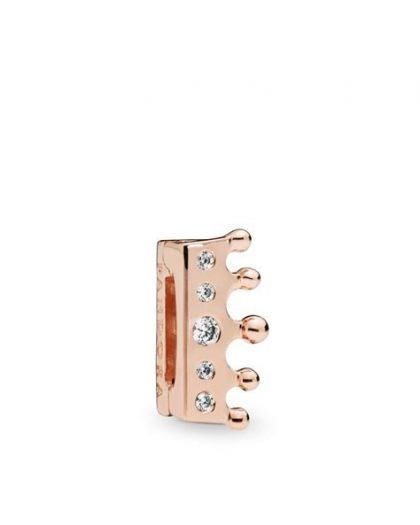 PANDORA REFLEXIONS CROWN CLIP CHARM IN PANDORA ROSE