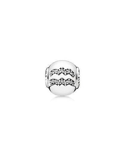 AQUARIUS ESSENCE COLLECTION CHARM IN SILVER