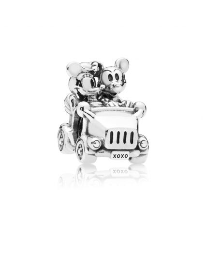 DISNEY MICKEY & MINNIE CAR SILVER CHARM