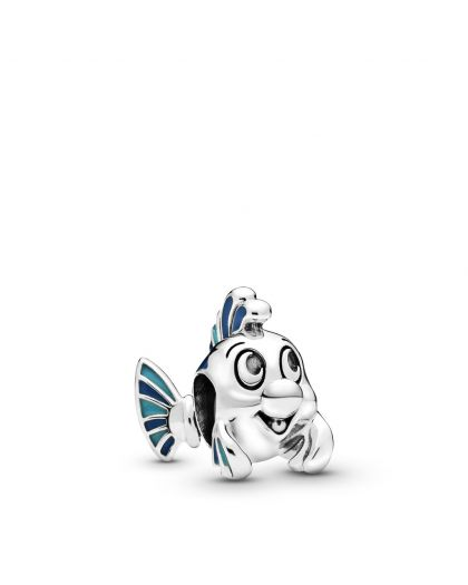 DISNEY FLOUNDER STERLING SILVER CHARM WITH BLUE ENAMEL